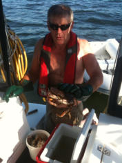 Cleaning Dungenus Crabs - Fishing Charters at BC Fishing Charters